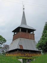 Мужієво. Костел 14-15 ст. з дерев'яною дзвіницею 18-19 ст.