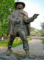 Перечин. Пам'ятник листоноші Федору Фекете