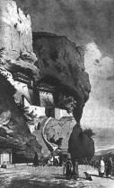 Бахчисарай. Свято-Успенський чоловічий монастир. Гравюра 19 ст.