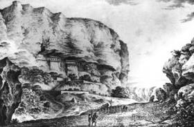 Бахчисарай. Свято-Успенський чоловічий монастир. Літографія, 1830-і рр.