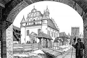Луцьк. Реконструкція кафедрального костелу Святої Трійці 16 ст.