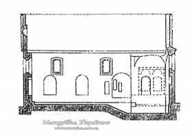 Луцьк. Вірменська церква у розрізі