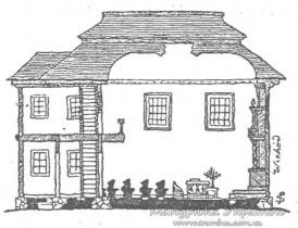 Луцьк. Караїмська кенаса у розрізі. З журналу Караимская жизнь ,1912 р., №12