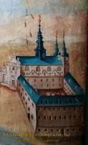 Луцьк. Вигляд костелу тринітаріїв на іконі Святого Ігнатія, сер. 18 ст.